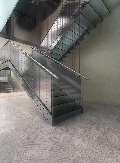 Escalera metálica para edificio estatal (Madrid)