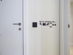 Detalle Entrada - Hall Minimalista