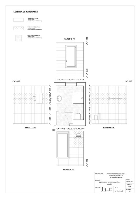 Diseño Baño Invitados Chalet Unifamiliar (Almazán, Soria)