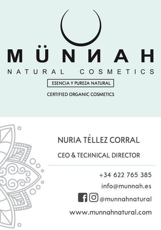 Tarjeta de Visita (8,5 x 5,5 cm) Münnah Natural Cosmetic