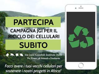Campagna per il riciclo dei telefoni cellulari