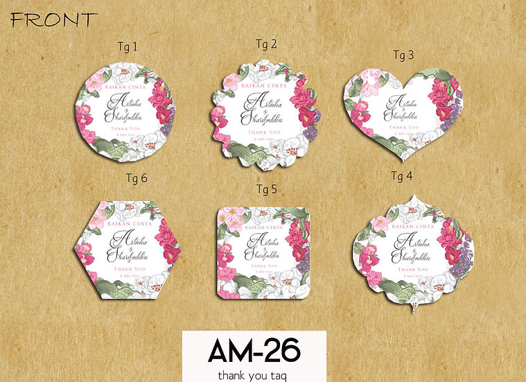 Wedding Tag AM 26