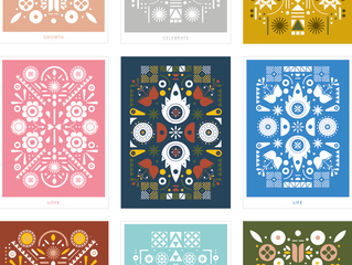 Folk art pattern design