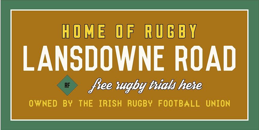 PizzaExpress Artwork Dublin Rugby