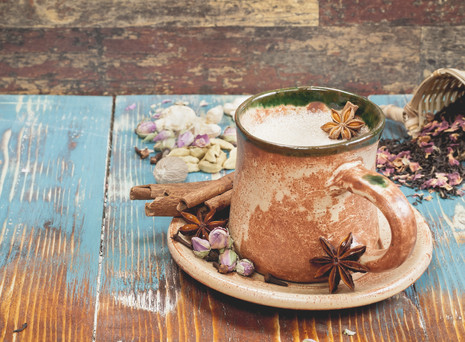 Spiced Milk on Muesli