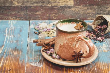 Spiced Milk on Muesli