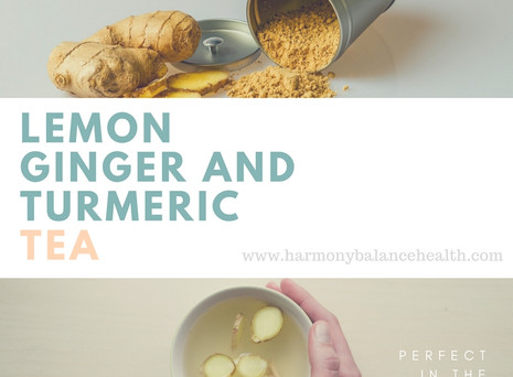 Winter Warmer - Lemon, Ginger and Turmeric Tea