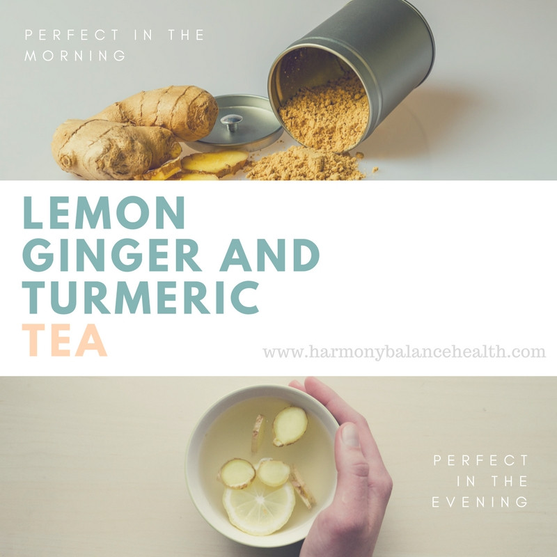 lemon, ginger and turmeric tea