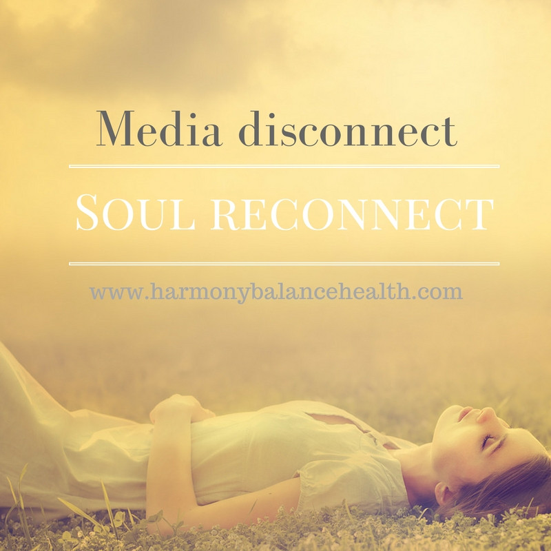 Take a break from media and connect with yourself