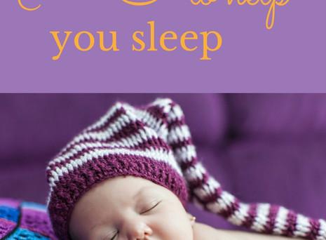 Simple steps to help you sleep