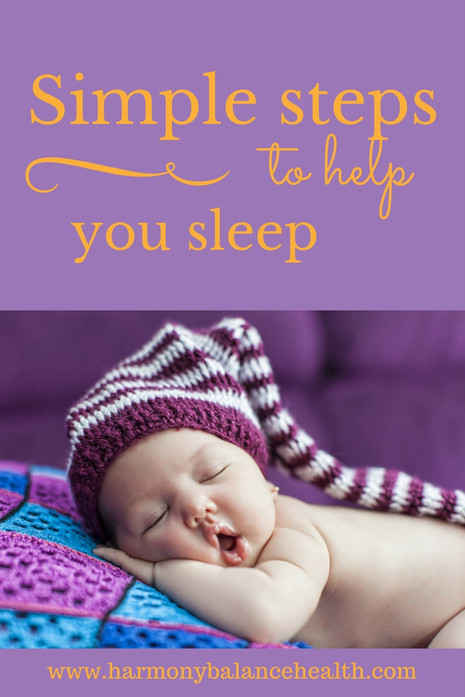Simple steps to help you sleep