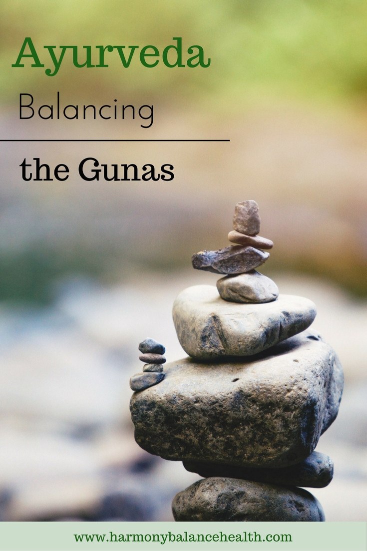 The three gunas in Ayurveda