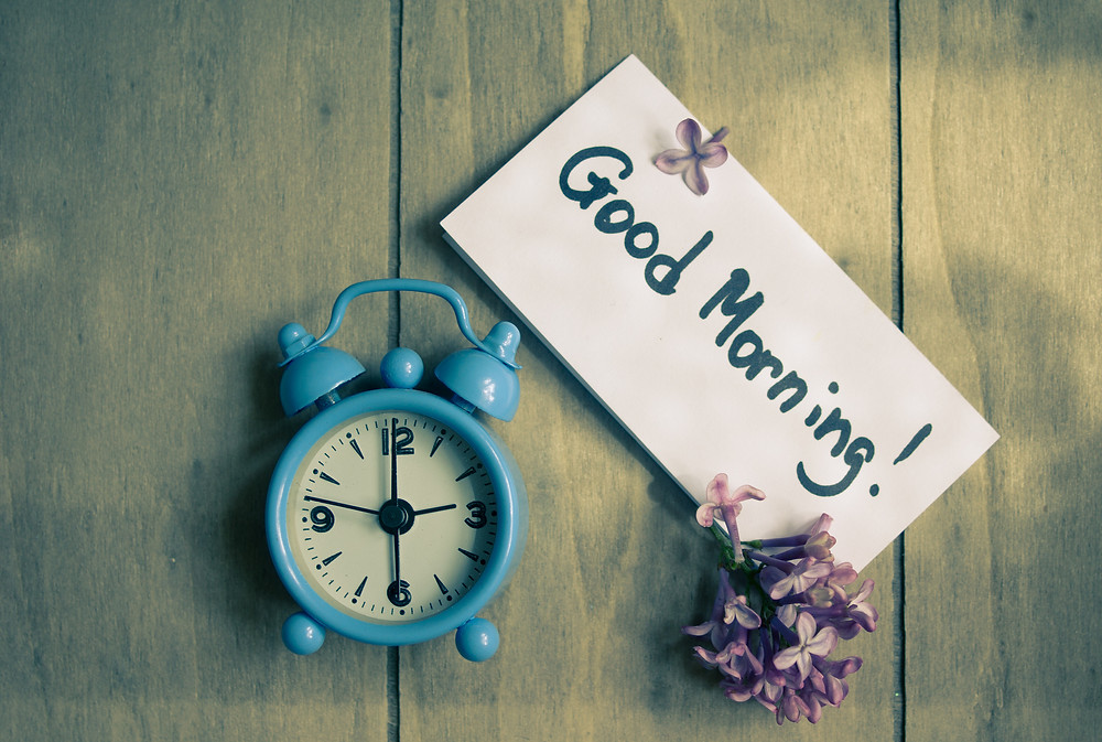 Good Morning Note And Old-styled Clock.jpg