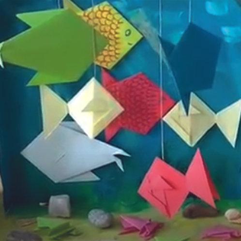 Film Świat podwodny z origami.