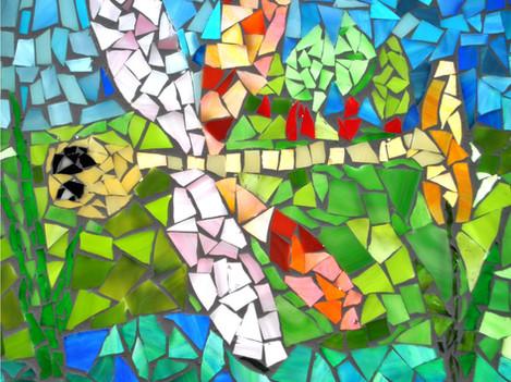 Mozaika ze szkła.
