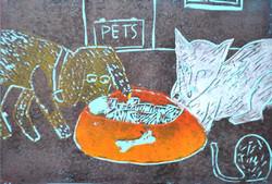 Grafika kolorowa z matrycy traconej.