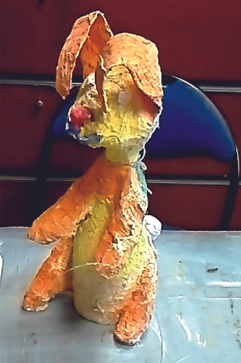 Film. Rzeźba z opaski gipsowej.