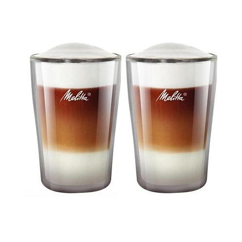Melitta Latte Macchiato-Glas 3 dl, 2 Stück, Transparent
