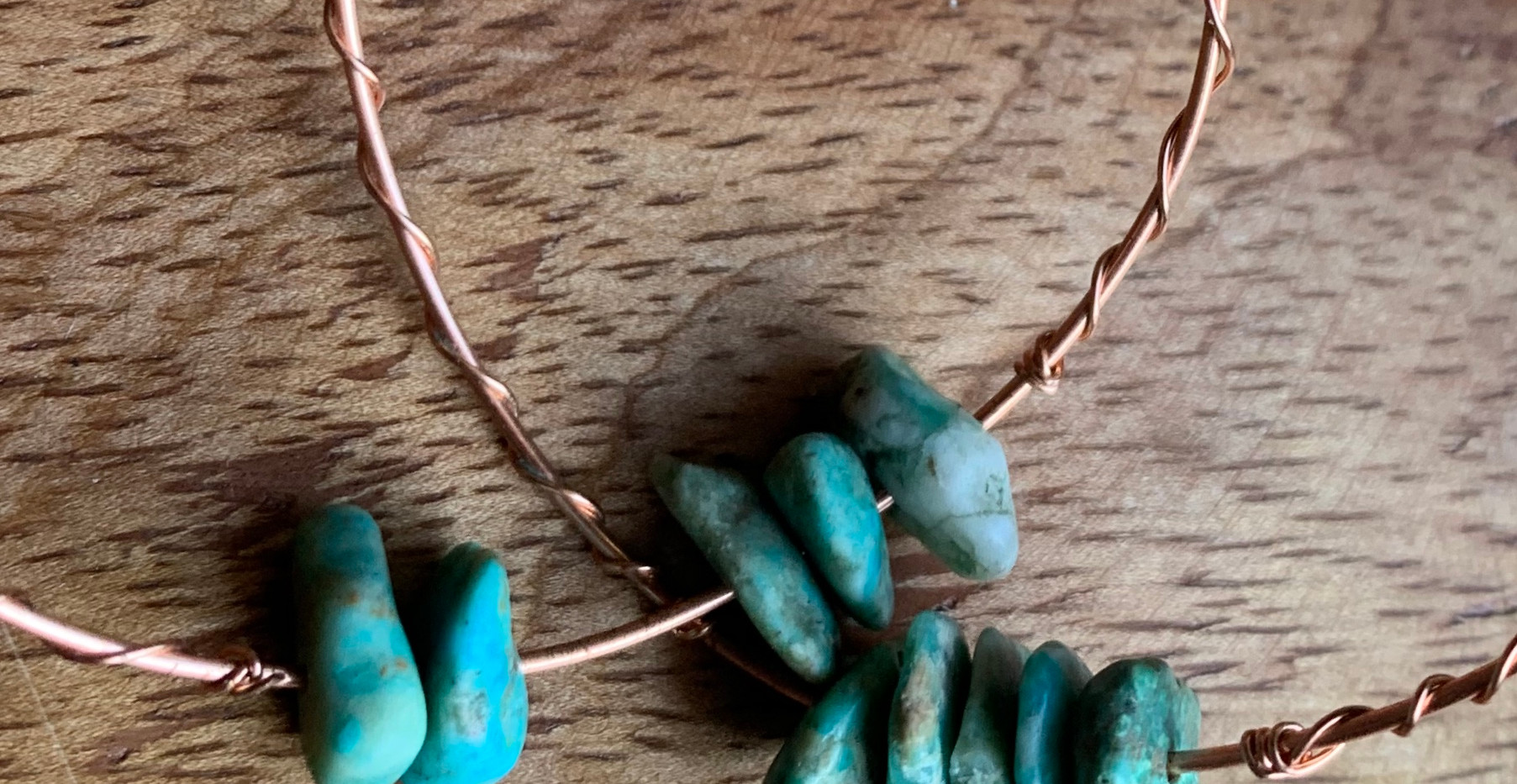 Turqouise Chunks on Copper