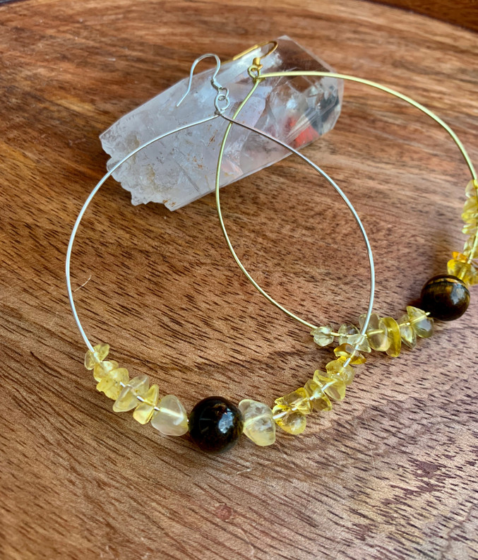 Tiger Lily Hanging Hoops
