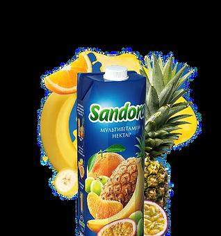 Мультивітамінний сік Sandora 0.95л
