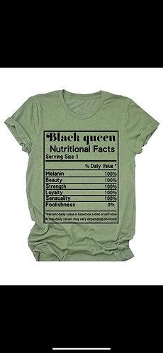 Black Queen Nutritional T-Shirt