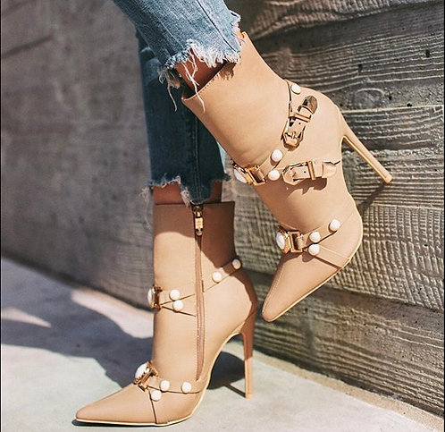 Pearly Pointy toe Bootie
