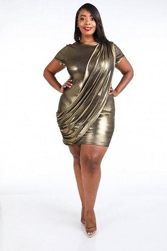 Jackie's Gold Metallic Dress