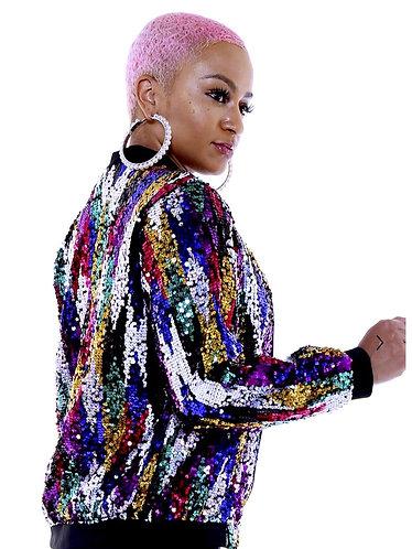 Tina Multicolor Sequin Jacket