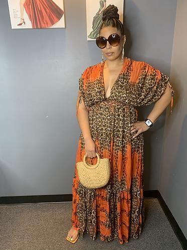 Leopard/Orange Dress