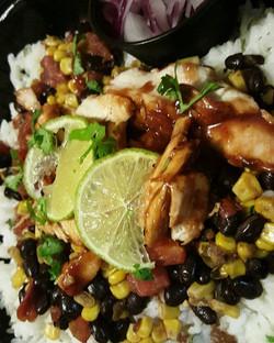 Southwest BBQ Cilantro Lime Rice Bow