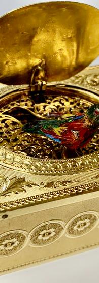 Brugier Gold Singing Bird Box