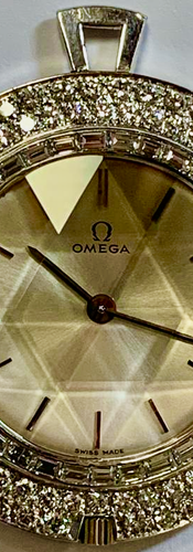 Omega Diamond Pendant Watch