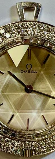 Omega Diamond Pendant Watch