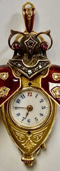 Enamel Scarab Beetle Watch