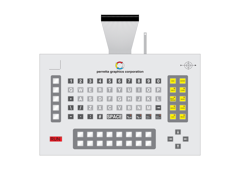 TECLADO DE MEMBRANA COM CONECTOR