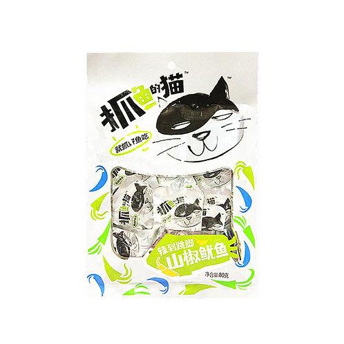抓鱼的猫山椒鱿鱼80G