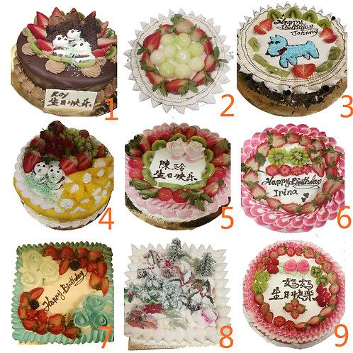 (提前一天预定)芒果/榴莲夹心生日蛋糕