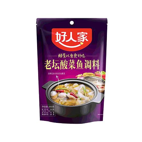 好人家老坛酸菜鱼调料360G