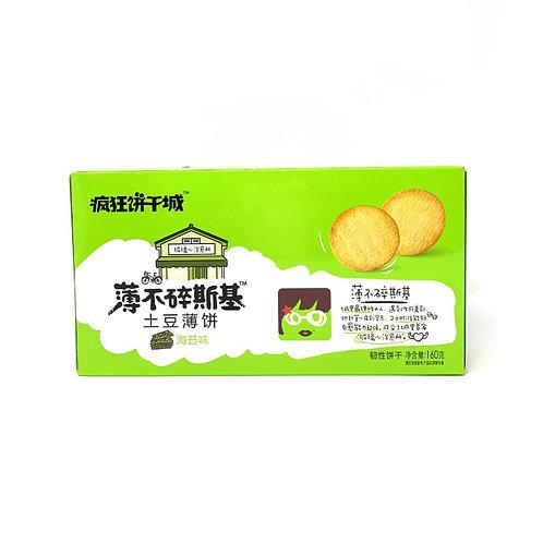 疯狂饼干城海苔味土豆薄饼160G
