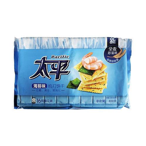太平海苔味梳打饼干400g