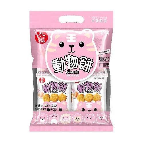 九福岩盐口味动物饼200G