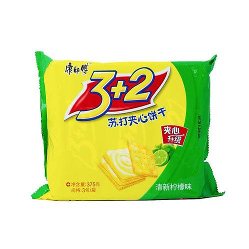 康师傅苏打柠檬夹心饼干375G