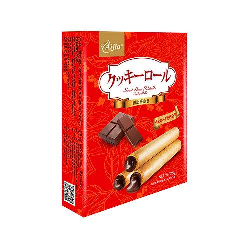 黑巧克力甜心爆爆卷75G