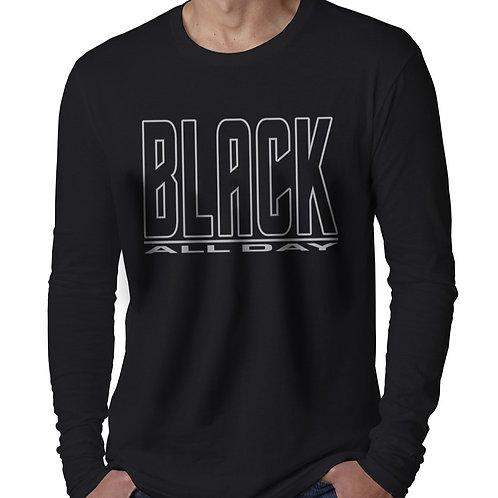 Black All Day Men's Long Sleeve T-Shirt