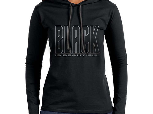 Black is Beautiful Women's Hooded T-Shirt