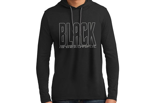 Black is Beautiful Men's Hooded T-Shirt