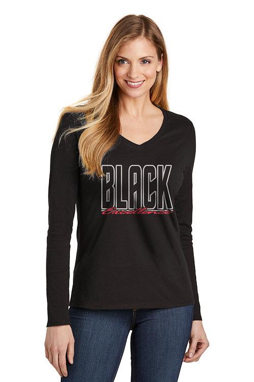 Black Excellence Women's Long Sleeve V-Neck
