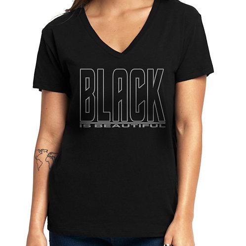 Black is Beautiful Women's V-Neck