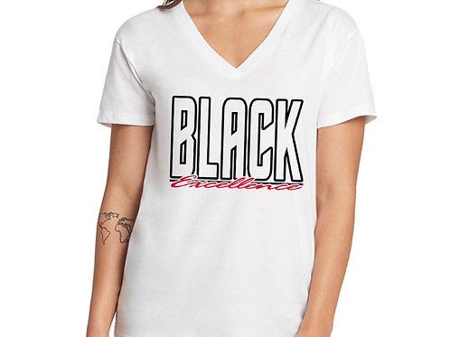 Black Excellence Women's V-Neck